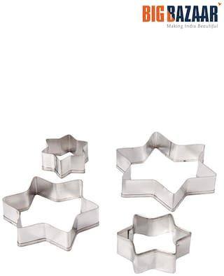 Fackelmann 4 Pcs Star Shape Cookie Cutter Set (43009)