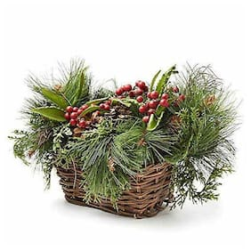 Factory Direct Craft Winter Garden Basket Arrangement