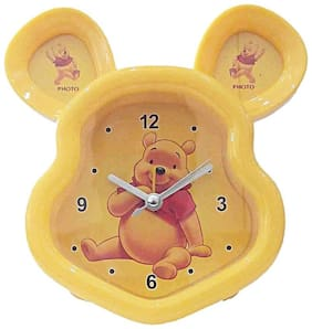 Curve Yellow Table clock
