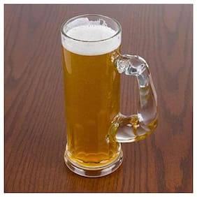 fancy Craft  Musculo Beer Muscle Mug Glass  (Glass, 600 ml, Clear, Pack of 1)