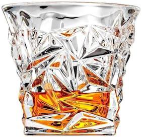 fancy craft Diamond Design Crystal Cut Whiskey Glass Set (300 ml) 6