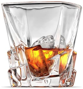 fancy craft Hot Selling European Crystal Whisky Glass, 10 oz - Set of 6