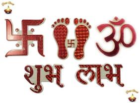 Fanddc Diwali Combo Pack Of 5 ( Shubh Labh Om Swastik Charan )