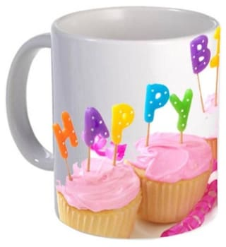 Fantaboy Happy Birthday Cakes Printed Coffee Mug