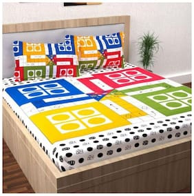 FARSH COTTON DOUBLE BEDSHEET LUDO PRINT