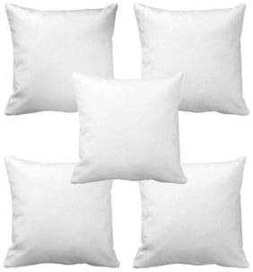 FARSH Micro Fiber Cushion Fillers (Set of 5) 16 X 16 - White