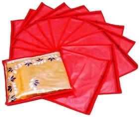 Fashion Bizz Red Non Woven Saree Cover Set of 12 pcs