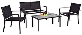 Fast Furnishings Modern 4-Piece Outdoor Patio Furniture Set with Sling Chairs...