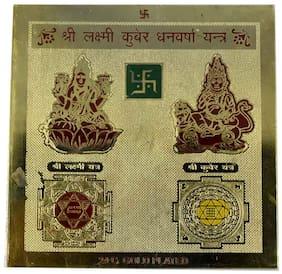 Faynci Shree Laxmi Kuber Dhan Varsha Yantra 24 Gold Plated