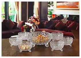 FC Decorative hot selling Pineapple Shaped crystal glass bowl set of 7