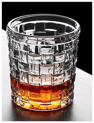 FC  Diamond-Cut Whiskey Glass Scotch Glass Drinking Glass Glass Set  (250 ml, Glass)