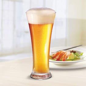 FC Long Drink Glass Pub Beer Glass Set, 350ml, Set of 6, Clear Glass Set  (350 ml, Glass)