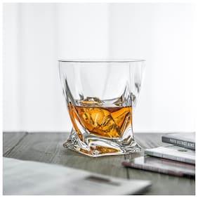 FC Royal Look Twist Glass Scotch Glass Drinking Glass 10 oz 300 ml Glass Set