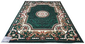 FCARPET HIGH QUALITY HAND CARVED CARPET APPROX 2.54 CM (1 inch) THICKNESS 1.2 m x 1.5 m (4 FEET X 5 FEET) GREEN MULTI