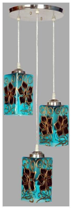 Fancy Designer Glass Modern Blue Ceiling Lamps ( Set Of 2 )