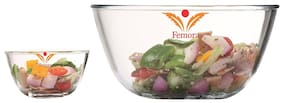 Femora Borosilicate Glass Microwave Safe 1050 ML;1650 ML;Mixing Bowl Set