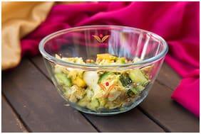 Femora Borosilicate Mixing Bowl Microwave Safe- 400ml;1 Year Warranty