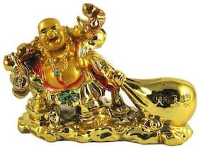 Feng Shui Laughing Buddha Drag The Money Potli