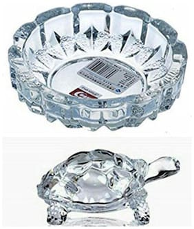 Fengshui Crystal Tortoise With Crystal Tray Combo Pack