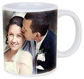 Ferns N Petals Personalized Couple Photo Mug-couple Photo Mug