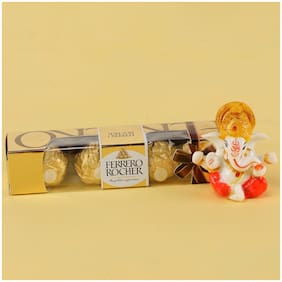 Ferns N Petals Ganesha Idol With Ferrero Rocher | Gift For Diwali | Diwali Idols | Festive Idols
