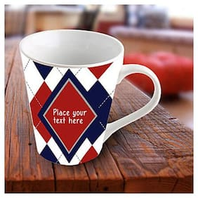 Ferns N Petals Exquisite Personalized Mug-Blue and red mug