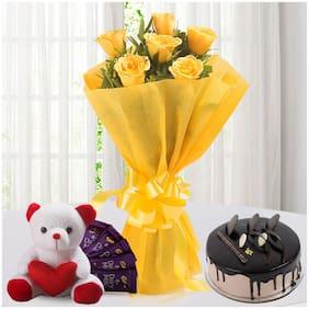 Ferns N Petals Roses-N-Choco-Hamper-Combo Valentines Gift