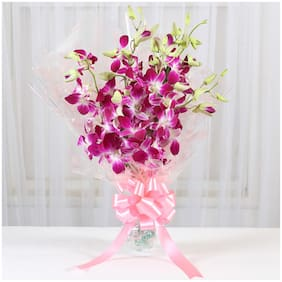 Ferns N Petals 6 Royal Orchids Bunch|Valentines Gift