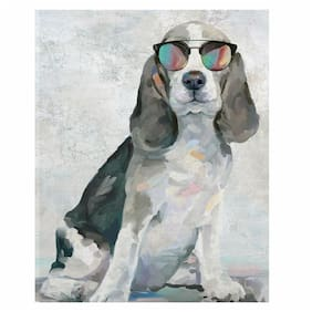 Fine Art canvas Shady Pups IV Dogs In Sunglasses By Studio