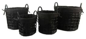 Firefly Willow Storage Basket Set of 4 With handles washable cloth liners NEW