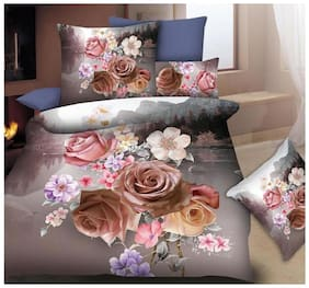 Fitted Bedsheet Queen Size (3 Pcs Set 1 Oxfrod Queen Fitted Double Bedsheet with 2 pillow Covers)