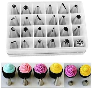 Flair 24pcs Cake Decorating Icing Piping Stainless Steel Nozzle Set with Box