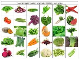 Flare Seeds Vegetable Seeds Bank For Home Garden 30 Varities 2000+ Seeds