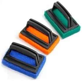 Floor & Tile Cleaning Brush Scrub Pad, Scrub Sponge  (Medium) Set Of 3