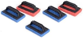 Floor & Tile Cleaning Brush Scrub Pad  (Multi Color, Pack of 5)