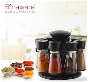 Floraware 8 Jar Revolving Spice Rack Masala Box Condiment Set