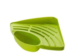 Floraware Creative Useful Multipurpose Must Have Corner Sink Wash Basin Storage Organizer Rack,Pack of 1,Green