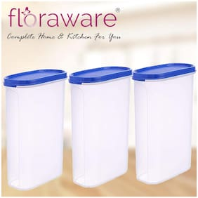 Floraware 2000 ml Blue Plastic Container Set - Set of 3