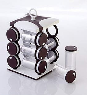 Floraware New Revolving Spice Rack Set (Brown)