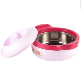 Floraware New Steel Casseroles, Junior Gift Set, 1 Pieces, Pack of 1 Thermoware Casserole Set Pink (1500 ml)