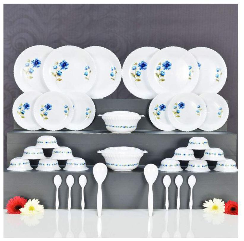 RANGANI Plastic Dinner Sets - Set of 36 , White