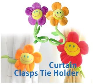Flower Tie Back Clasps Curtain Clip Flexible Tieback Holdback Holder