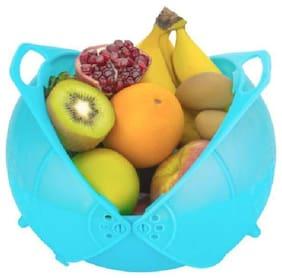 flyfot Kreative India Vegetable Fruit Rinse Bowl & Strainer Cum Basket