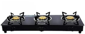 Fogger 3 Burner Regular Black Gas Stove ,