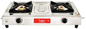 Fogger 2 Burner Regular Silver Gas Stove ,