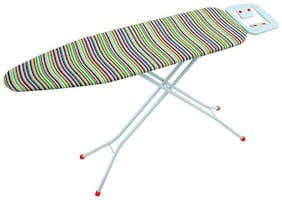 Foldable Ironing Board Table 110 x 33 cm Queen Iron Stand with Candy Stripe - Eurostar