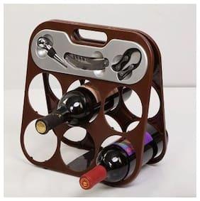 Foldable Wine bottle rack with 3 pcs accessory Set