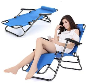 2PCS Folding Reclining Chair Lounge Patio Zero Gravity Chaise Outdoor Seat CA