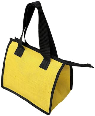 Foonty Daily Use Waterproof Lunch Bag (Yellow;7038)