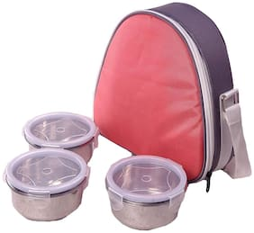 Foonty Daily Office Use Water Proof Lunch Box/Tiffin Box(Peach)